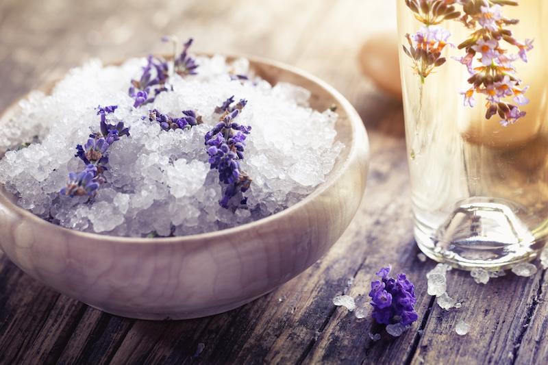 Meersalz Lavendel Peeling und Massage